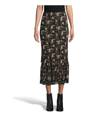 Nicole Miller Printed Mesh Pull-On Midi Skirt