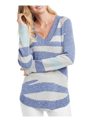 NIC+ZOE Abstract Stripe Sweater