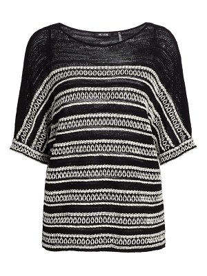 NIC+ZOE celestial embroidered striped sweater
