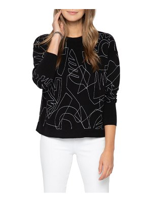 NIC+ZOE embroidered sweater