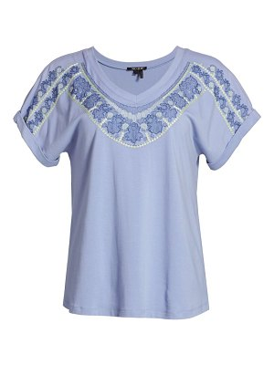 NIC+ZOE jetty knit embroidered t-shirt