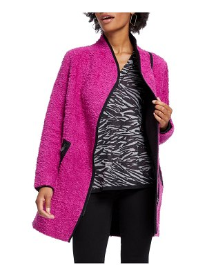 NIC+ZOE pretty in pink fuzzy cotton blend coat