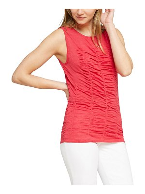 NIC+ZOE Ruched Sleeveless Sweater Top