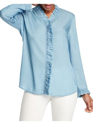 NIC+ZOE Ruffled Up Denim Shirt