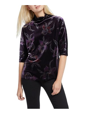 NIC+ZOE soft petal stretch velvet top