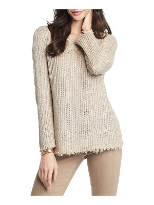 NIC+ZOE Sunrise Frayed-Edge Sweater