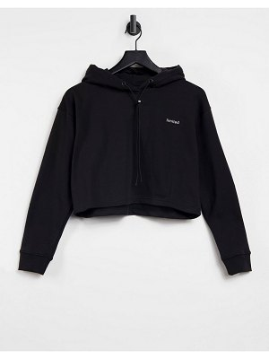 Night Addict coordinating cropped cargo tracksuit hoodie-black