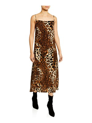 Nightcap Leopard-Print Midi Slip Dress