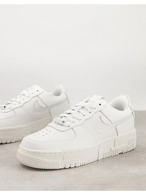 Nike air force 1 pixel sneakers in summit white and photon dust