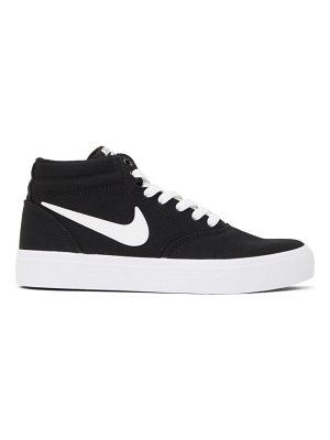 Nike black canvas sb charge mid sneakers