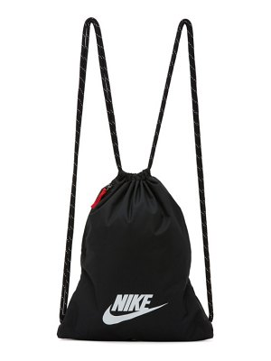 Nike black heritage 2.0 gymsack backpack