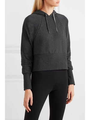 Nike cropped dri-fit fleece hoodie