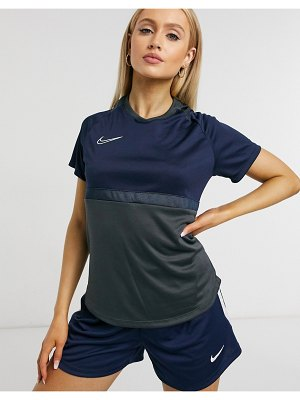 Nike Football academy 20 t-shirt in navy