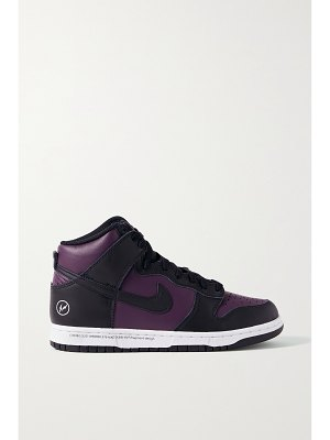 Nike + fragment dunk leather high-top sneakers