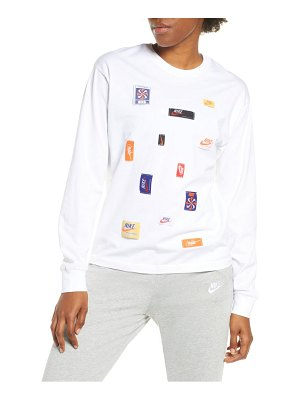 Nike logo patch long sleeve top