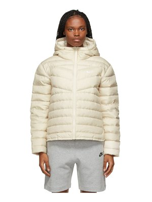 Nike off-white down quilted jacket
