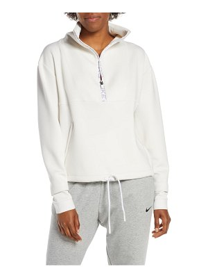 Nike pro dri-fit fleece crop half zip top