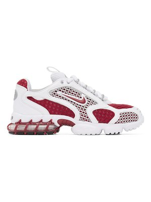 Nike red and white  air zoom spiridon cage 2 sneakers