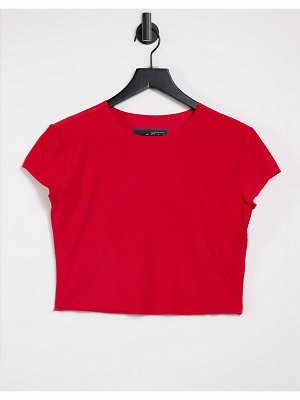 Nike Running city ready crop top in red