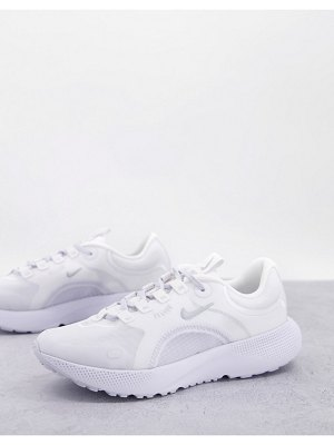 Nike Running react escape run sneakers in white