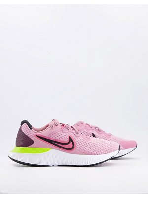 Nike Running renew run 2 sneakers in pink