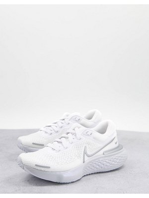Nike Running zoomx invincible flyknit sneakers in white