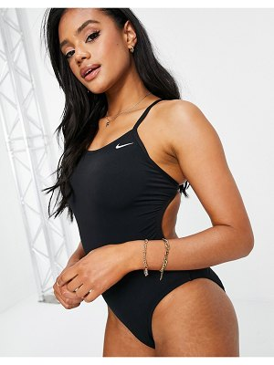 Nike Swimming cut out swimsuit in black