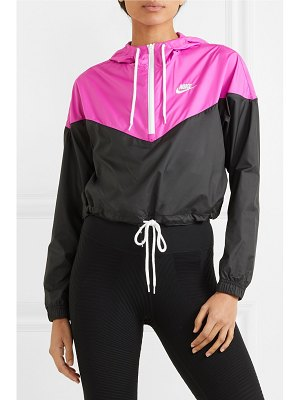 Nike cropped hooded two-tone shell jacket