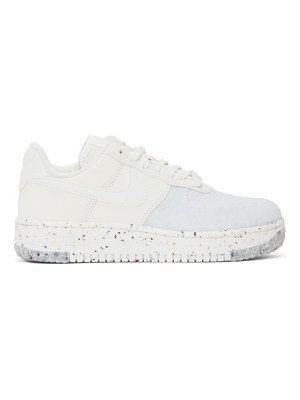 Nike white air force 1 crater sneakers