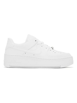 Nike white air force 1 sage sneakers