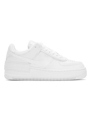 Nike white air force 1 shadow sneakers