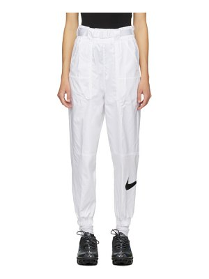 Nike white swoosh lounge pants