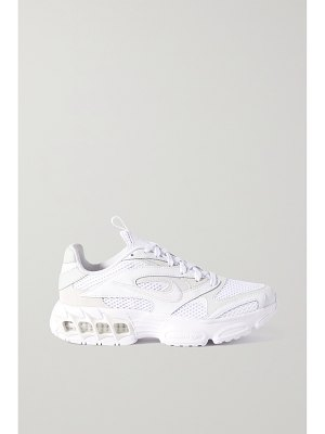 Nike zoom air fire mesh, faux leather and suede sneakers