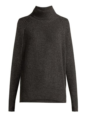 NILI LOTAN anitra ribbed roll neck wool blend sweater