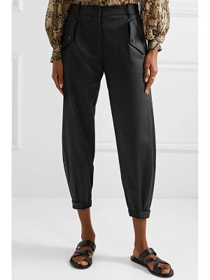 NILI LOTAN arliss cropped lyocell-blend twill tapered pants