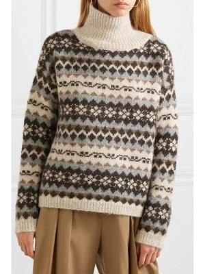 NILI LOTAN catalina fair isle alpaca-blend turtleneck sweater
