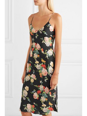 NILI LOTAN floral-print silk-satin dress