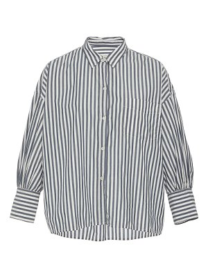 NILI LOTAN lonnie striped cotton-poplin button-up shirt size: l
