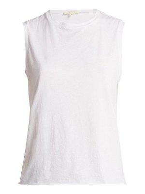 NILI LOTAN muscle sleeveless cotton jersey tank top