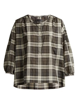NILI LOTAN Paloma tartan cotton top
