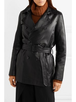 NILI LOTAN rose leather trench coat