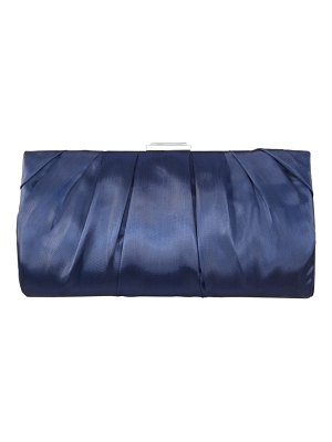 Nina crystal clasp pleated clutch