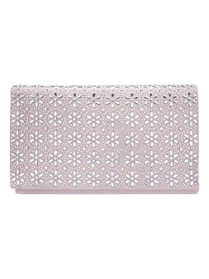 Nina crystal flower embellished clutch