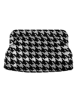 Nina metallic houndstooth clutch