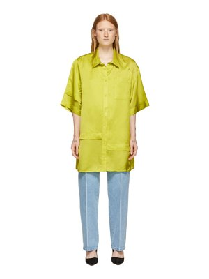 Nina Ricci green layered short sleeve shirt