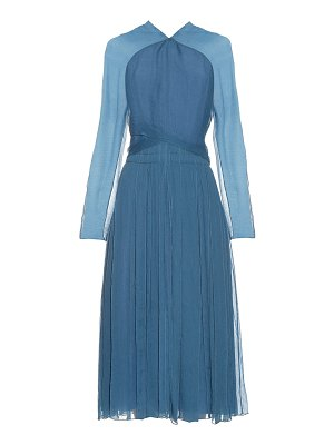 Nina Ricci Long-sleeved silk midi dress