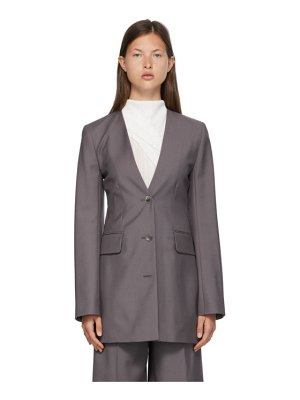 Nina Ricci taupe wool fitted blazer