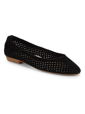 Nine West Glack Perforated Suede Flats