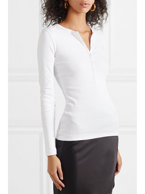 Ninety Percent ribbed organic cotton-jersey top