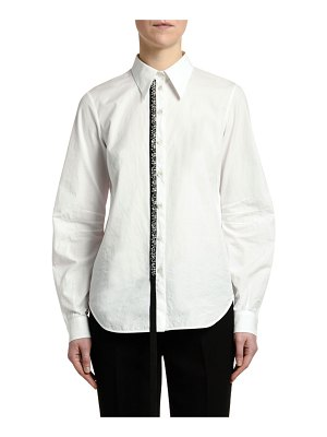 No. 21 Embellished Button-Down Top